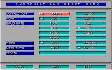Stunt Driver DOS Communication Setup Menu (EGA/Tandy/VGA 256 colors)