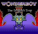 Wonder Boy III: The Dragon's Trap Game Gear Title Screen