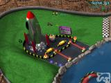 3-D Ultra Radio Control Racers Windows The game's tracks feature a lot of neat little details and animations, like the steam emerging from this rocket