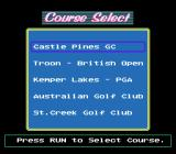 Jack Nicklaus' Greatest 18 Holes of Major Championship Golf TurboGrafx CD Selecting a course