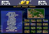 F1 World Championship Edition Genesis Circuit Selection Screen