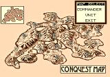 Lord of Wars TurboGrafx CD Conquest map