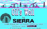 Oil's Well DOS Title screen (CGA 4 color)
