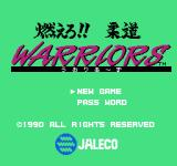 Moero!! Judo Warriors NES Title screen 2