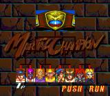 Martial Champion TurboGrafx CD Selecting a fighter in the tournament mode