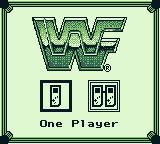 WWF Superstars 2 Game Boy Select the number of players