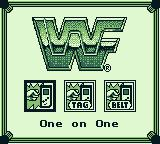 WWF Superstars 2 Game Boy Select a game mode