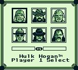 WWF Superstars 2 Game Boy Select a wrestler