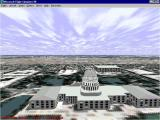 Washington D.C.: Scenery for Microsoft Flight Simulator 5 DOS DC Mall area flight goes over the Capitol building
