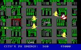 Ghostbusters PC Booter The city map screen