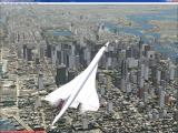Microsoft Flight Simulator 2004: A Century of Flight Windows One of the great things about the flight simulator series is the ability to add to it. Here a 3rd party Concorde is flying over the default New York scenery