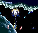 Nexzr TurboGrafx CD This stage's end boss is the same as the mid-level one, only this form is much easier to defeat
