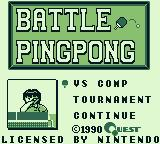 Battle Pingpong Game Boy If you choose one player, these are your options.