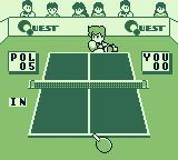 Battle Pingpong Game Boy I missed. The shot was in.