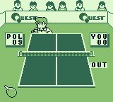 Battle Pingpong Game Boy My shot was out.