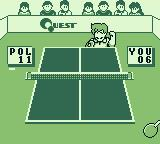 Battle Pingpong Game Boy Raising his fist in victory.