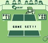 Battle Pingpong Game Boy Game set. I lost.