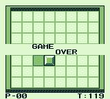 Dexterity Game Boy I lost all my lives. Game over.