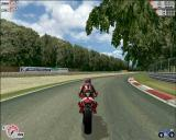 Superbike 2000 Windows The scenery looks really good. Only when I played slowly, or when it's caught in a screenshot like this, did I realise how blocky it got close up. Take the overhanging tree for example.