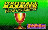 Football Manager: World Cup Edition 1990 Atari ST Title screen