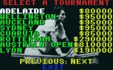 International 3D Tennis Atari ST Tournament selection