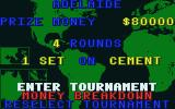 International 3D Tennis Atari ST Tournament details