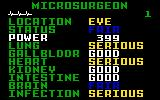 Microsurgeon Intellivision A patients medical chart