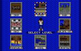 Skidz Atari ST Level selection screen