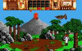 Time Machine Atari ST The volcano is having an eruption