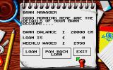 World Soccer Atari ST The bank menu