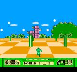 3-D WorldRunner NES Worldrunning between columns
