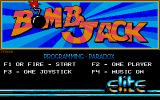 Bomb Jack Atari ST The main menu