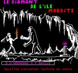 Le Diamant de l'Île Maudite Oric Loading Screen (in French)
