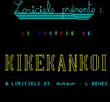 Le Mystère de Kikekankoi Oric Title Screen (in French)