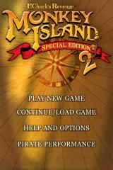 Monkey Island 2: LeChuck's Revenge - Special Edition iPhone Main menu