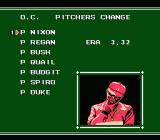 Bases Loaded II: Second Season NES Pitcher change