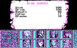 Heroes of the Lance DOS High Scores (CGA)