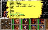 Heroes of the Lance DOS Game Menu (EGA)