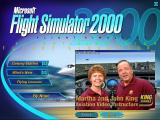 Microsoft Flight Simulator 2000: Professional Edition Windows The flight simulation loads and displays this screen. The size is fixed and, on a screen that's displaying at a higher resolution, the 'Getting Started' video plays in a really tiny window.