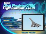 Microsoft Flight Simulator 2000: Professional Edition Windows The 'What's New' section is a video sequence that shows the new planes & features. It also displays in a fixed size window.