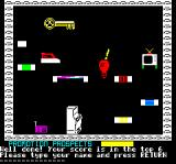 Trouble in Store Oric Game over - enter your name