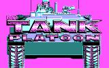 M1 Tank Platoon DOS Title screen (CGA)