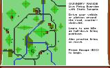 M1 Tank Platoon DOS Mission Briefing with map (EGA/Tandy)