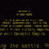 "Star Wars: Attack on the Death Star Sharp X68000 ""It is a period of civil war."""