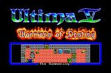Ultima V: Warriors of Destiny Sharp X68000 Title screen