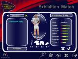 Tennis Masters Series Windows The player selection screen. Not much choice here but this a shot from a demo version of the game. The player's kit can be changed by clicking on the shirt, shorts, shoes & racket