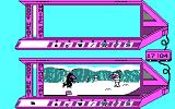 Spy vs. Spy III: Arctic Antics DOS A snow ball fight between the black and white spy.