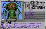 Starflight 2: Trade Routes of the Cloud Nebula Amiga Communicating with an alien race