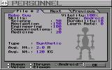 Starflight 2: Trade Routes of the Cloud Nebula Amiga Creating an Android Crew Member