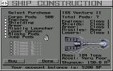 Starflight 2: Trade Routes of the Cloud Nebula Amiga Ship Construction